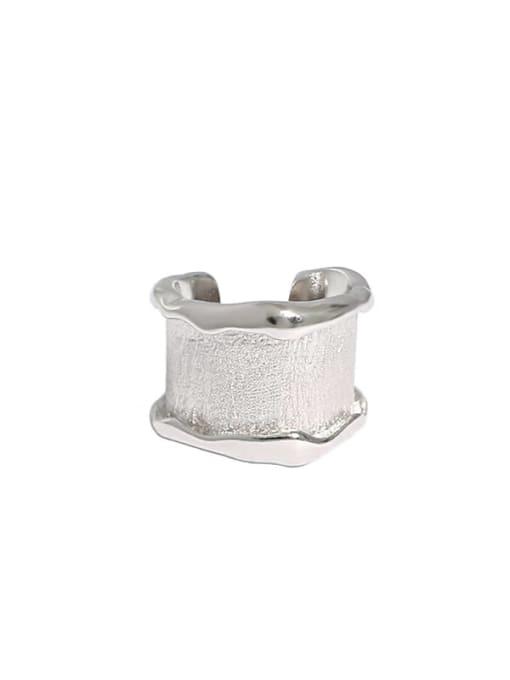 Dak Phoenix 925 Sterling Silver smooth Irregular Vintage Clip Earring [Single] 3
